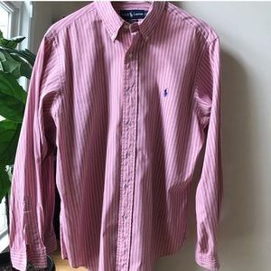 Polo by Ralph Lauren Pink Striped Button Down
